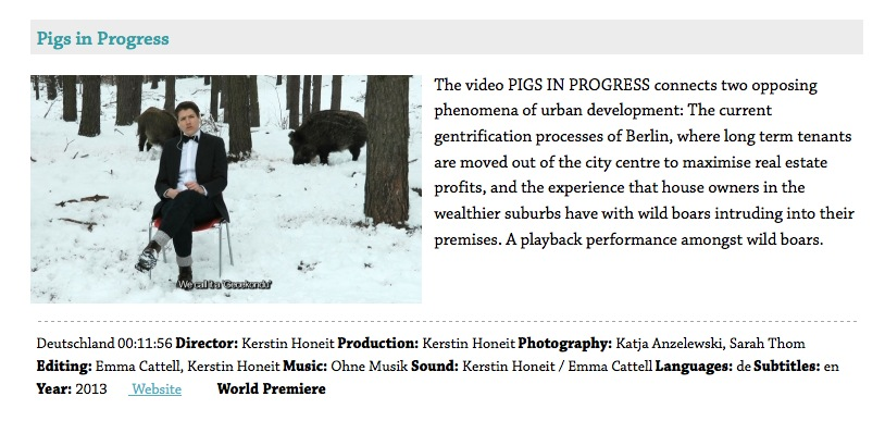 Kerstin Honeit – News: Pigs in progress Dokfest Kassel