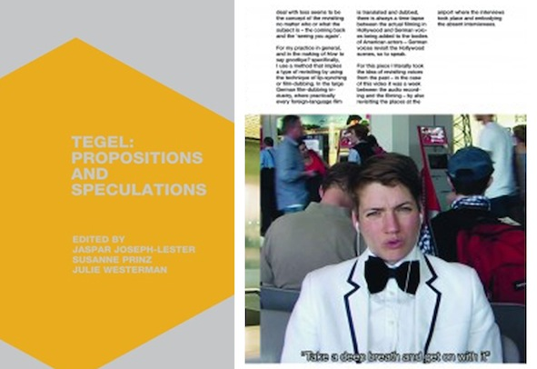 Kerstin Honeit – News: Publication Tegel Propositions and Speculations