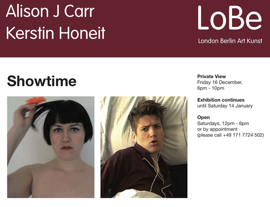 Kerstin Honeit – News: SHOWTIME Allie Carr & Kerstin Honeit at Galerie LoBe London / Berlin, Berlin